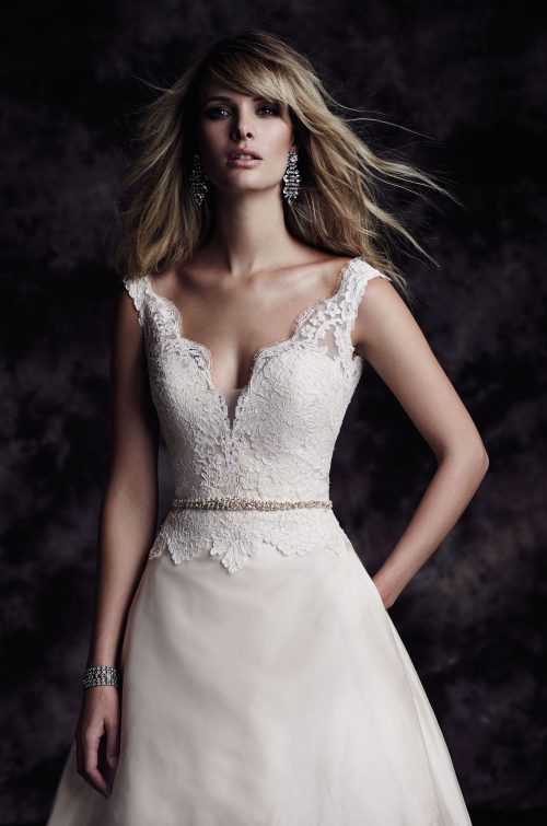 A-Line Silk Skirt Wedding Dress - Style #4613 | Paloma Blanca