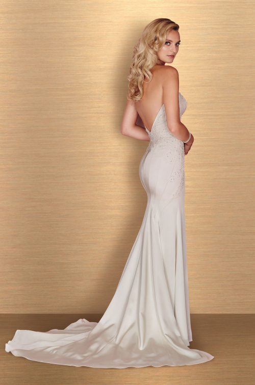 Satin Beaded Wedding Dress - Style #4660 | Paloma Blanca