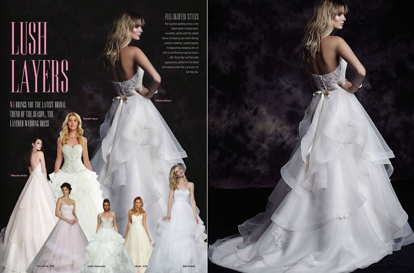 3 Paloma Blanca wedding dress Style 4610 Irelands Wedding Journal Winter Edition