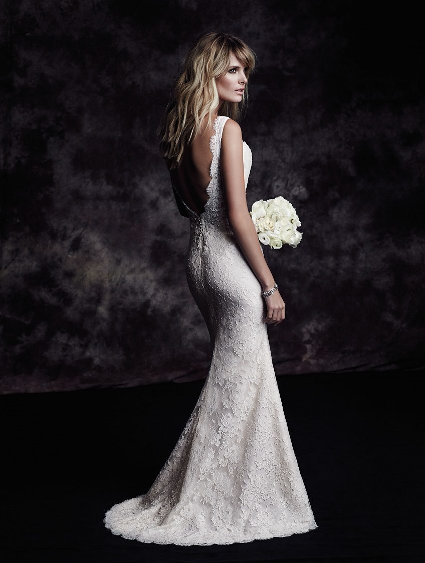 Paloma Blanca wedding dress Fall Collection Style 4601 back