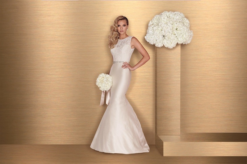 Style 4664 front Paloma Blanca wedding dress Spring 2016 Collection 2