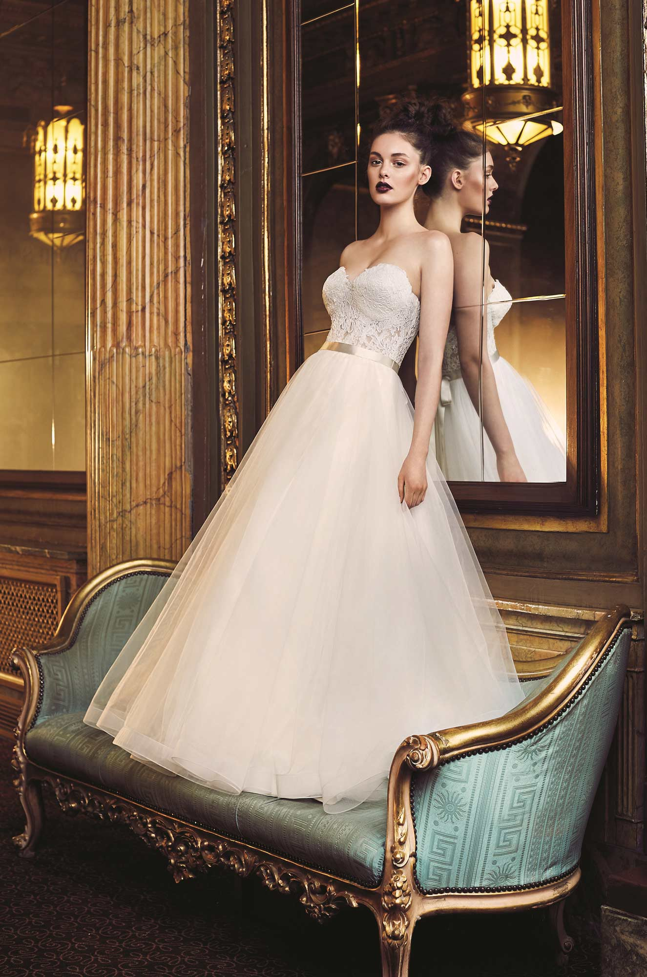 Tulle Ball Gown Wedding Dress - Style #4704 | Paloma Blanca