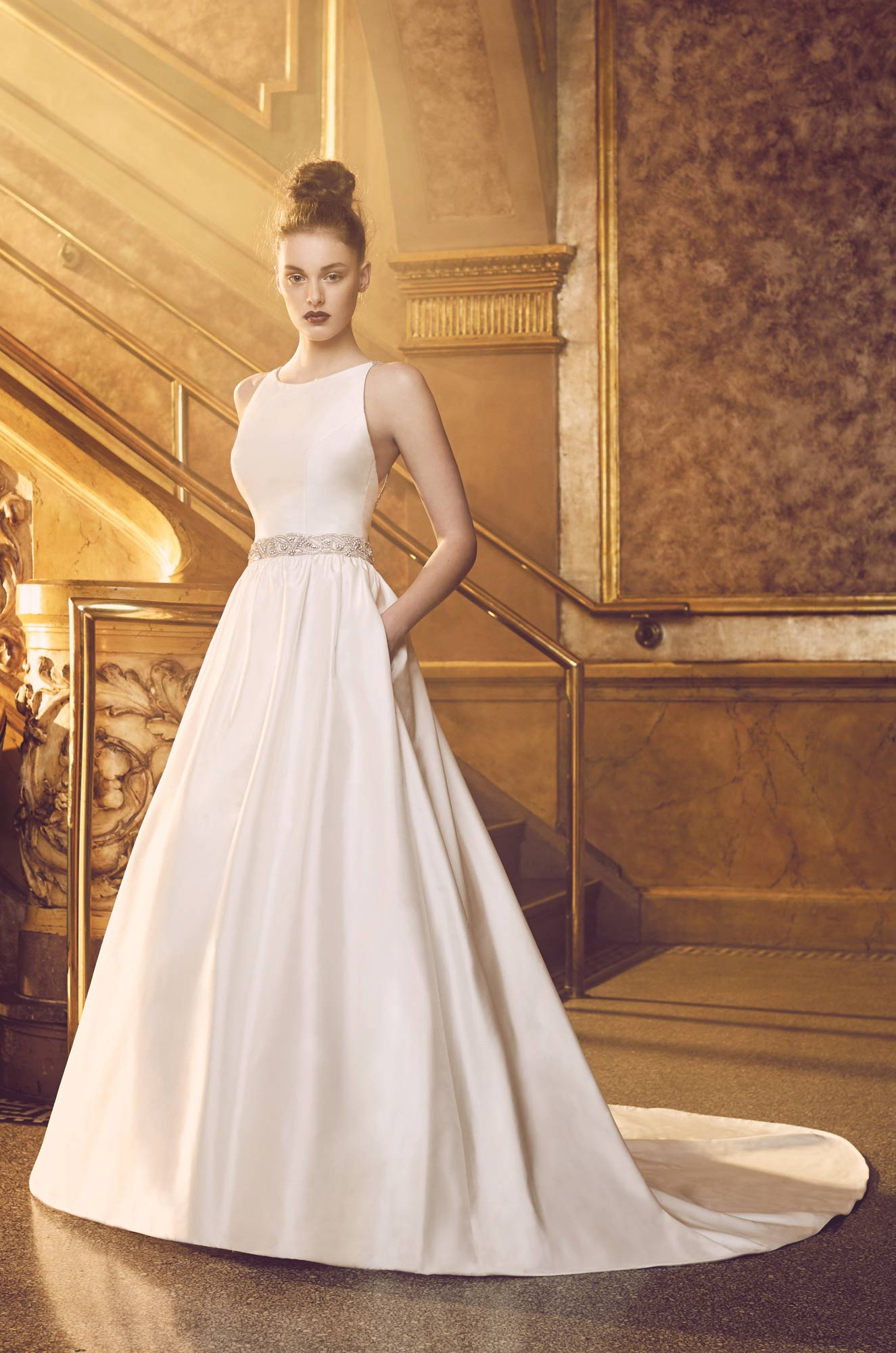 full silk wedding dress style 4719 paloma blanca