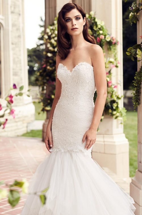 Fitted Laser Cut Lace Wedding Dress - Style #4725 | Paloma Blanca