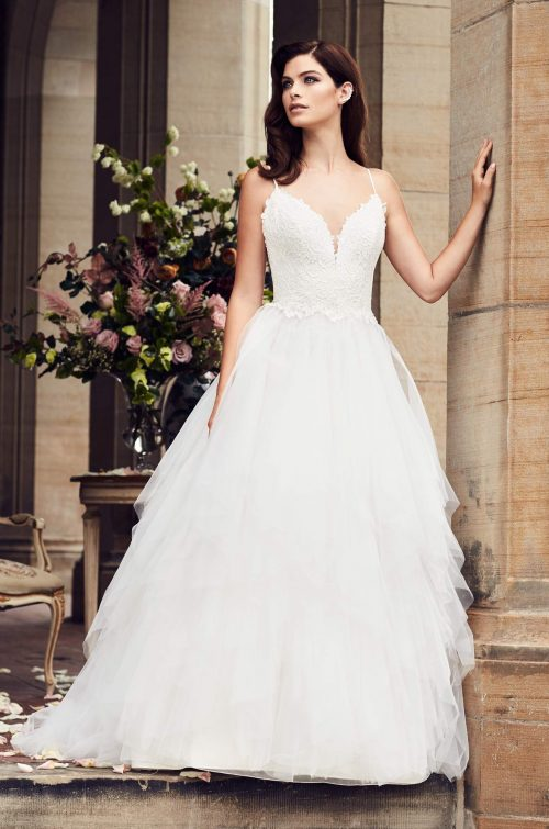 Ruffled Tulle Skirt Wedding Dress - Style #4734 | Paloma Blanca