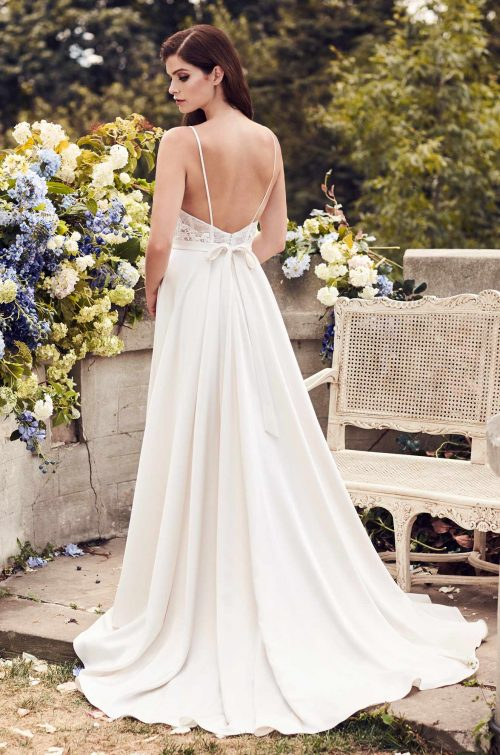Chic Satin Skirt Wedding Dress - Style #4739 | Paloma Blanca