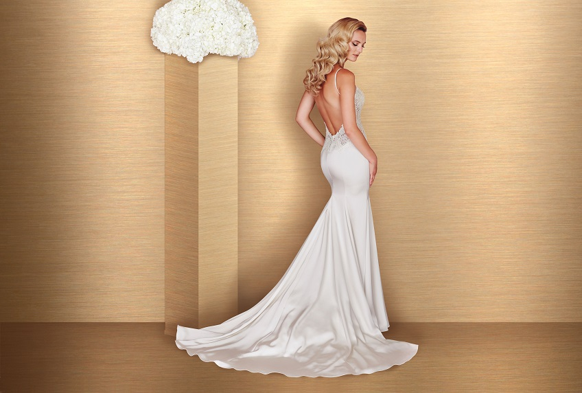 Style 4665 back Paloma Blanca wedding dress Spring 2016 Collection